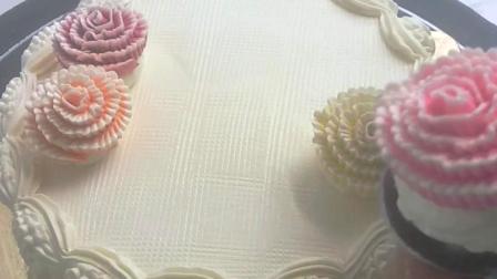 每一朵绣球都那么可爱 那么精致 韩式蛋糕裱花