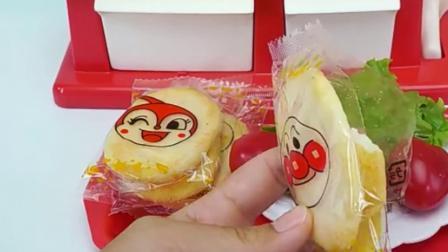 橡皮泥玩具视频麦当劳汉堡机制作牛肉汉堡.mp4