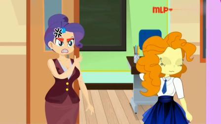 哈哈,艾达琪和阿坤作弊,都被老师发现了 小马国女孩游戏