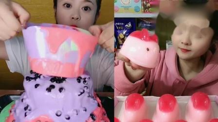 萌姐吃播:彩虹爆浆蛋糕、果冻Q弹兔子,一口超过瘾,向往的生活