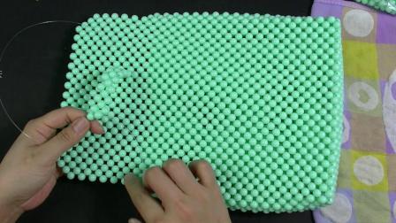 双肩背包第二节视频教程 DIY手工串珠包包教程 手工编织包视频