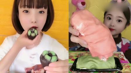 萌姐吃播:草莓毛巾卷、山竹巧克力,一口超过瘾,我向往的生活