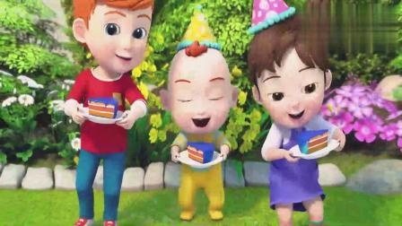 超级宝贝:JOJO过生日,吹完蜡烛吃蛋糕,又长大一岁了!