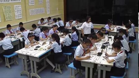[配课件教案]四年级书法《 木字旁与禾字旁》宁夏马老师-省一等奖