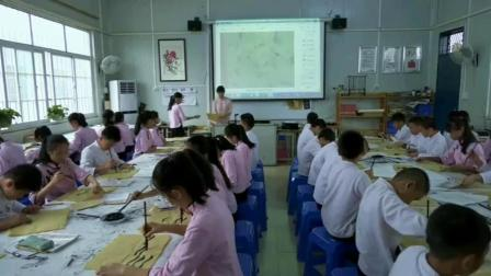 [配课件教案]五年级书法《 认识隶书(二)》广西马老师-省一等奖