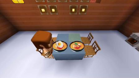 迷你世界:酋长用两碗面,让小男孩,变得非常懂事