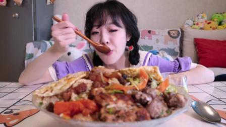 【大胃mini的Vlog】点10个盒饭摆满一桌 有肉有菜少油又健康