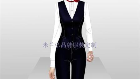 黑色正装西服款式 - 藏蓝色羊毛西服定做 - 米兰弘服装