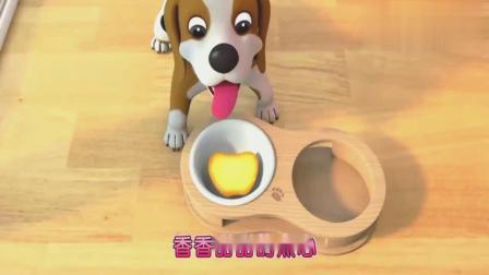 超级宝贝:苹果布丁烤好了,快来尝尝看吧,真的特别的好吃哦