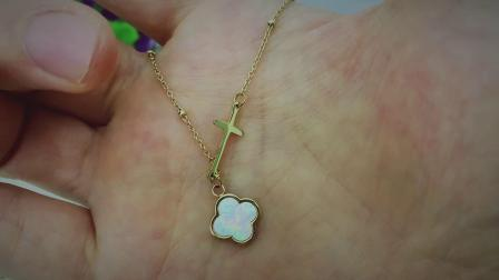 Flower and Mussel Necklace