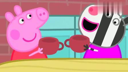 小猪佩奇:孩子们用粘土做虫子?一个茶杯那么容易就做出来了!