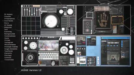 014632-高科技界面UI元素HUD电路信息图表图形动画效果含音效