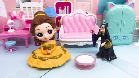贝儿吃了巫婆送来的蛋糕,不料中了黑魔法控制不住自己,怎么办