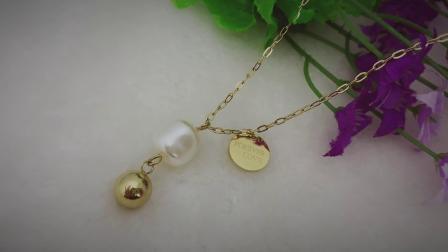 Motherofpearl pendant necklace