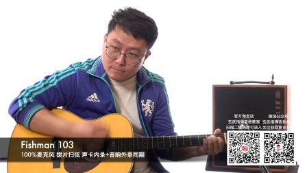 【玄武吉他】测评系列 马丁OMJM+Fishman 103拾音器音色