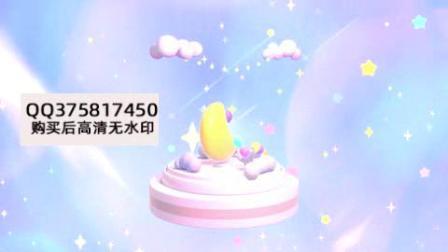 可爱卡通天空和月亮动画背景1920X1080视频素材4626409.mp4