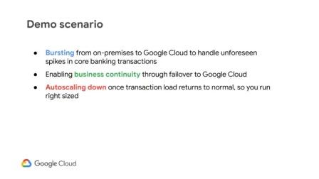 Temenos Transact Bursting and Failover to Google C