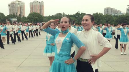 三步踩(正式)9月15日各地舞友500多人齐跳兵兵三步踩 义乌花仙子开心舞蹈队