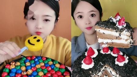 萌姐吃播:果冻佩奇、草莓千层蛋糕,甜品口味任选,我向往的生活