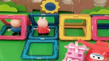 小猪佩奇玩具:外面下雨了,乔治佩奇和小朋友都回家了,真的也是没谁了