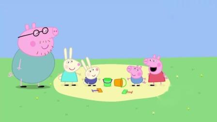 小猪佩奇:乔治和理查德玩堆沙堡,不料出现分歧,看来不是很顺利.