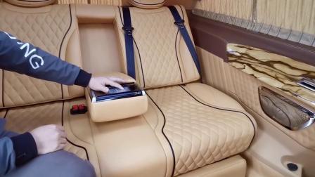 奔驰威霆怎么改座椅?多功能沙发床效果演示