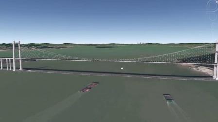 卫星地图看虎门大桥,能扛15级风的大桥,怎么5级风就大幅晃动? - 以卫星地图的视角,游览祖国的大好河山,讲述当地的人文地理高清播单视频在线...