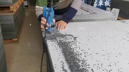 昆明云象建材演示怎么对铝塑板开槽折边