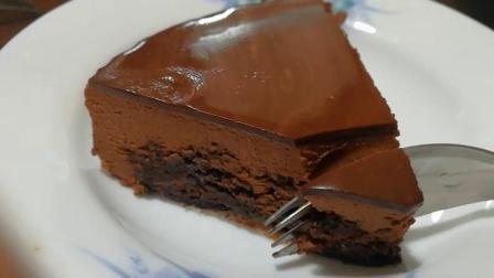 布朗尼巧克力慕斯镜面蛋糕