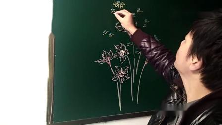 黑板报小花练习(二)快拿笔来画一画