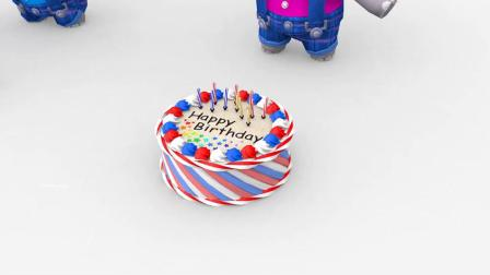 小象过生日插蛋糕蜡烛,变出汪汪队小狗,启蒙动画