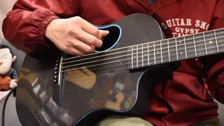 美国McPherson全碳纤维旅行吉他红色装饰线款试听