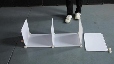 双排三层鞋柜安装