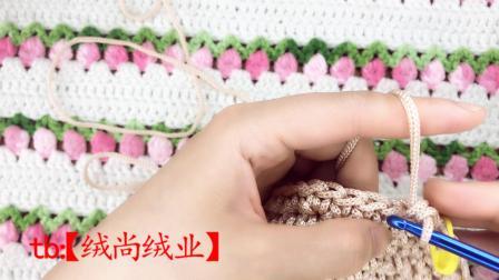 绒尚手工-冰丝线爵士帽钩编教程图解视频