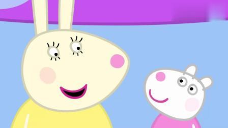 小猪佩奇:佩奇负责摸奖桶,里面的宝贝可真多,看起来很有趣!