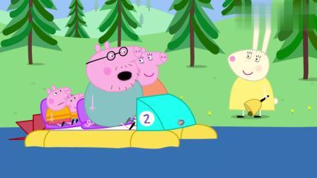 小猪佩奇:佩奇的想象力真丰富,说脚踏船像水上自行车,真形象!