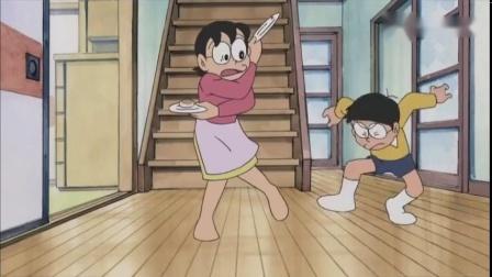 哆啦A梦:妈妈拿错了点心,大雄吃了热血豆沙包成了热血男人.mp4