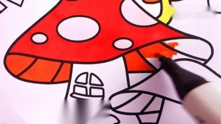 蘑菇房的彩色绘画.mp4