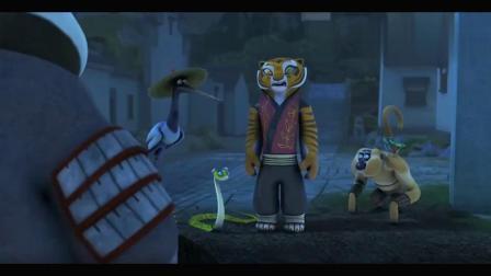 功夫熊猫:看到熊猫是午夜怪客后,的反应亮了!