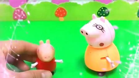 佩奇画了一个生日蛋糕,猪妈妈给佩奇买了蛋糕,和乔治一起吃.mp4