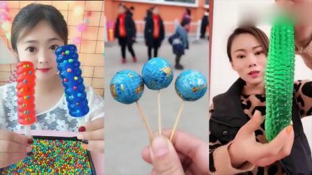 小可爱:彩色果冻棒棒糖,吃的香甜可口,真馋人