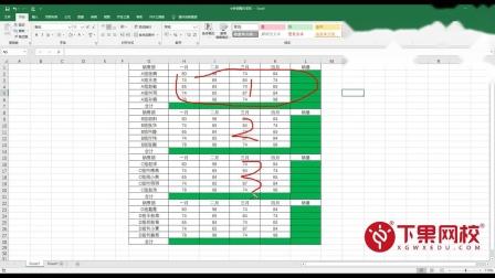 Excel隔行求和、复杂表格多处批量求和、不用SUV函数求和、Alt+=有什么用?定位空值法求和、表格大量求和、求和绝招、学办公软件Excel函数、不懂电脑