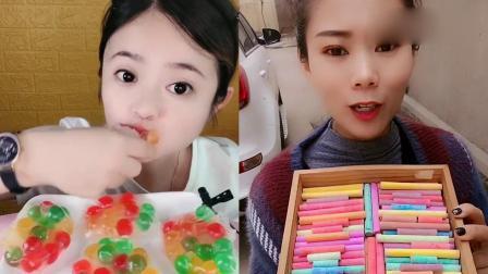 小姐姐直播吃:吃彩色春卷果冻、巧克力,看着就过瘾,向往的生活