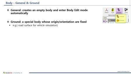 RecurDyn Beginner Kit (1/4) (Terminologies, Pre-Processor, Body)