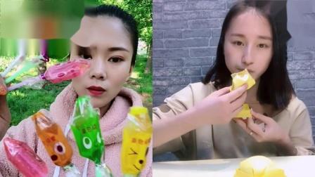 萌姐吃播:芒果班戟,一口下去超美味,是向往的生活