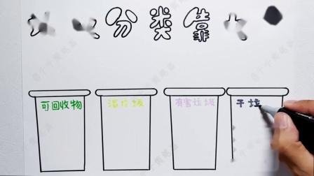 垃圾分类手抄报版面设计,这样画简单又漂亮,孩子的手抄报不用愁.mp4