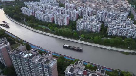 航拍(试机):俯瞰夕阳下的淀浦河畔 2020.6.6
