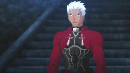 Fate:红A警告远坂凛,saber在附近,远坂凛差点被砍!.mp4