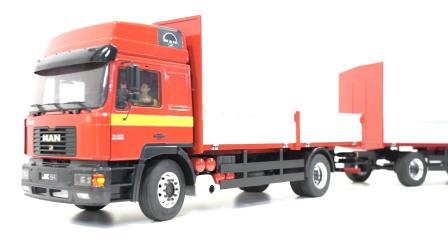 这个搭档好!MAN F2000的全挂拖车来自JX MODEL
