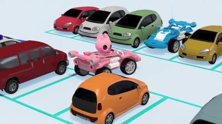 露西驾驶小汽车要去哪里呢?迷你特工队游戏